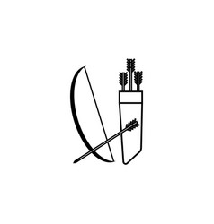 bow and quiver with arrows vector image