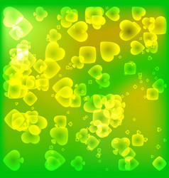 brightly green texture of card suits in a magical vector image