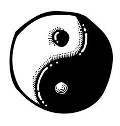 Cartoon image of ying yang icon vector