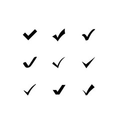 checkmark icons set vector image