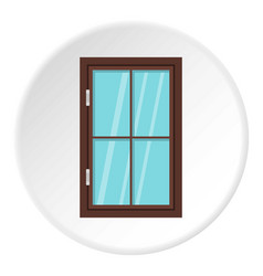 closed brown window icon circle vector image