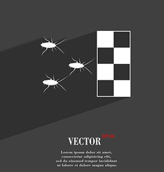 Cockroach races symbol Flat modern web design with vector