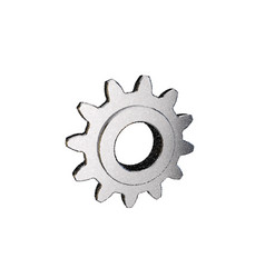 cogwheel isolated on white background vector image