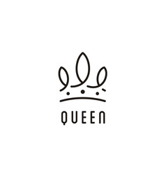 crown queen king prince princess royal logo vector image