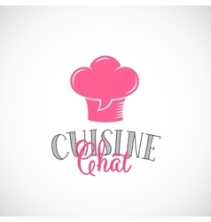 Cuisine Chat Abstract Logo Template Chef vector image