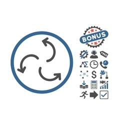 Cyclone Arrows Flat Icon With Bonus vector