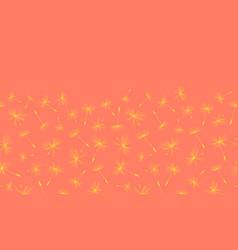dandelion seeds seamless border repeat vector image