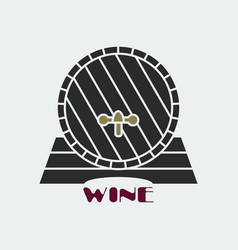 dark wine barrel icon vector image