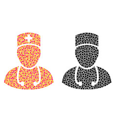 Dotted doctor mosaic icons vector