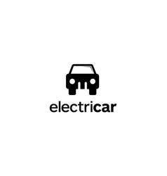 electric car logo design concept vector image