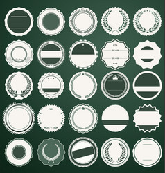 Empty badge collection vector