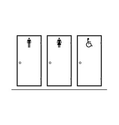 entrance door for man woman wheelchair person vector image