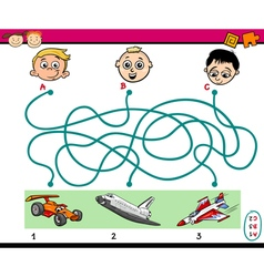 Find path task for kids vector