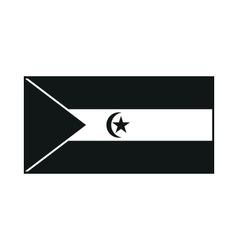Flag of the Sahrawi Arab Democratic Republic vector image