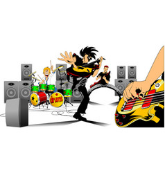 great rock musicians vector image