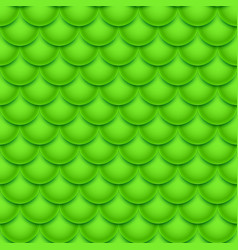 green fish scales seamless pattern geometric vector image
