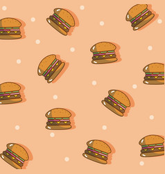 Hamburger pattern background vector
