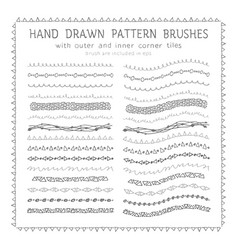 hand drawn decorative paintbrushes set vector image vector image