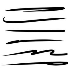 Hand drawn highlighting elements black marker vector