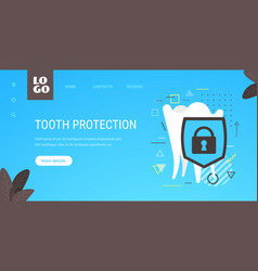 healthy tooth and shield anti-caries protection vector image