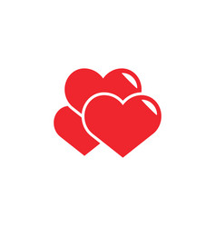 heart love icon design template isolated vector image
