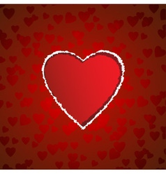 heart shaped torn paper vector image