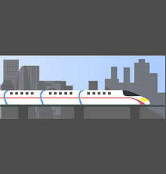 high speed bullet train vector image