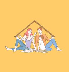 Home insurance metaphor happy childhood memories vector
