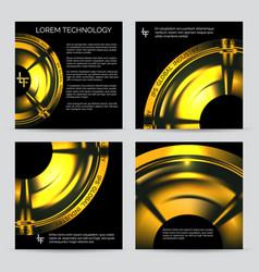 Industrial engineering booklet template vector