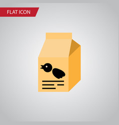 isolated sparrow meal flat icon nutrition box vector image
