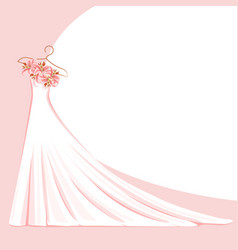 Lace dress on a hanger vector