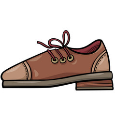 Leather shoe object cartoon clip art vector
