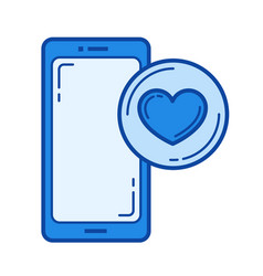 like button line icon vector image
