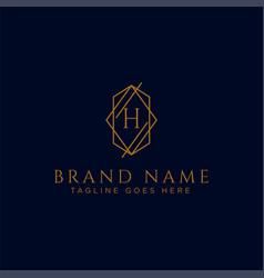 Luxury logotype premium letter h logo vector