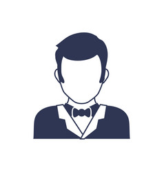 Male faceless head vector