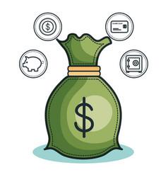 Money bag design vector