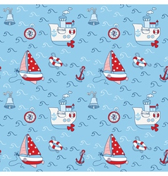 Nautical Sea Seamless Pattern vector image