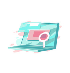 online searching on website vector image