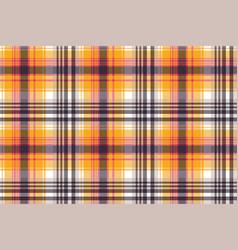 orange plaid seamless pattern vector image