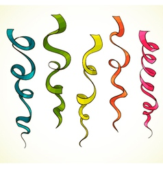 Party serpentine Ribbons Celebration vector