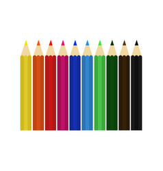 Pencil colour set design vector
