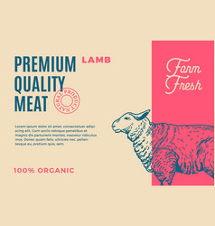 Premium quality lamb abstract meat vector