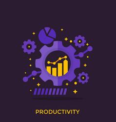 Productivity productive capacity analytics vector