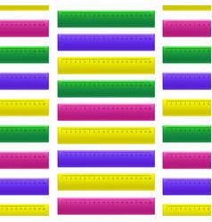 realistic detailed 3d color school measuring vector image