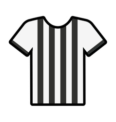 referee shirt uniform icon vector image