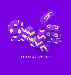 Sale 3d sign purple vector