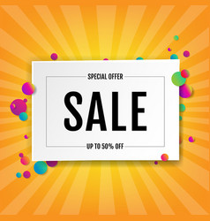 Sale banner with ball vector