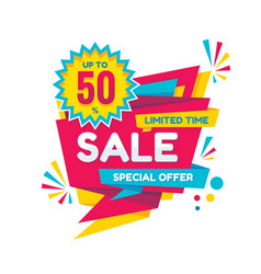 sale - creative banner vector image