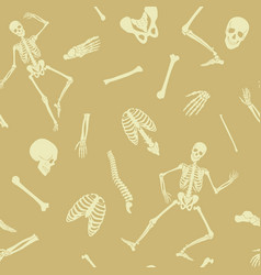 Seamless pattern background with dancing vector
