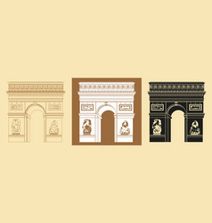 set of triumphal arch vector image